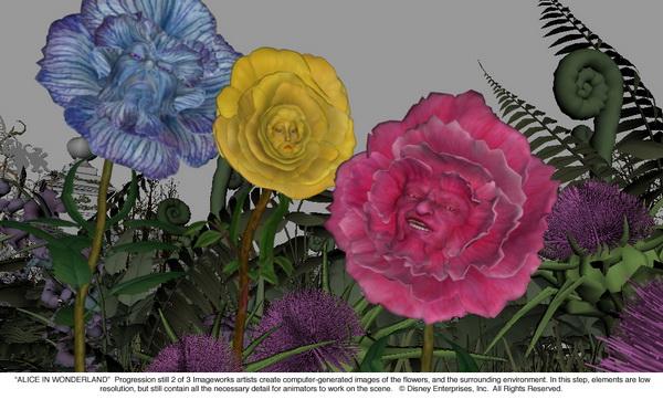 Pixelcreation Alice Vfx 46 Alice Au Pays Des Merveilles Vfx Fleurs2