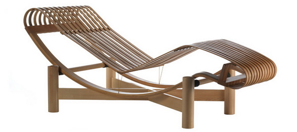 Charlotte Perriand Chaise Longue Bambou