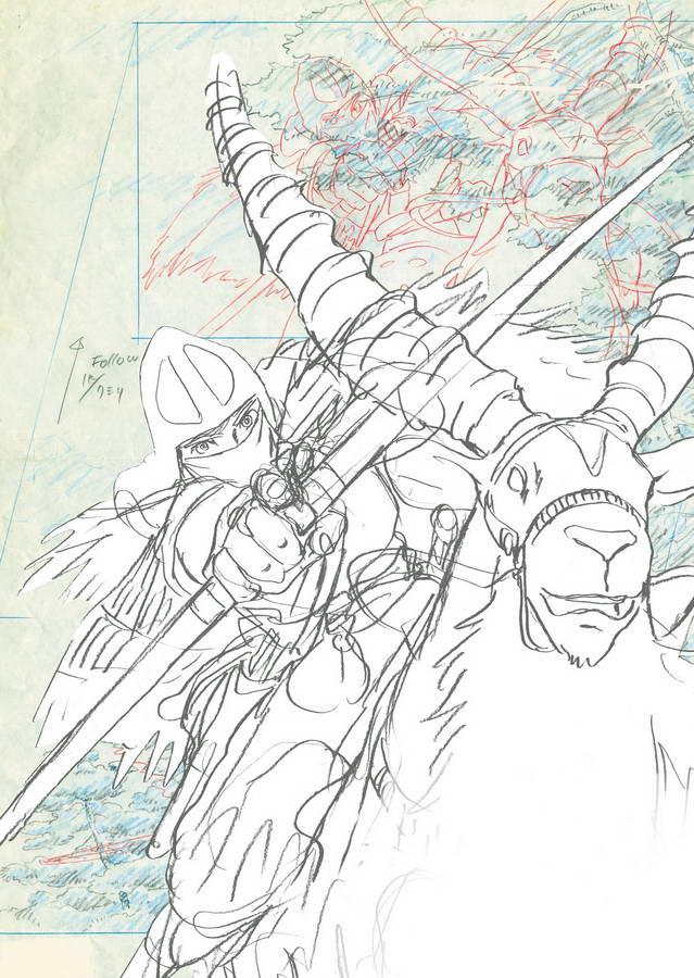 Pixelcreation Studio Ghibli Dessins Princesse Mononoke