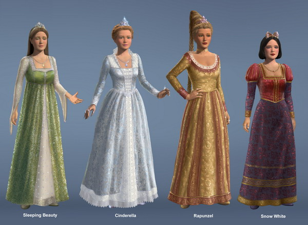05 shrek3 design princesses costume lineup
